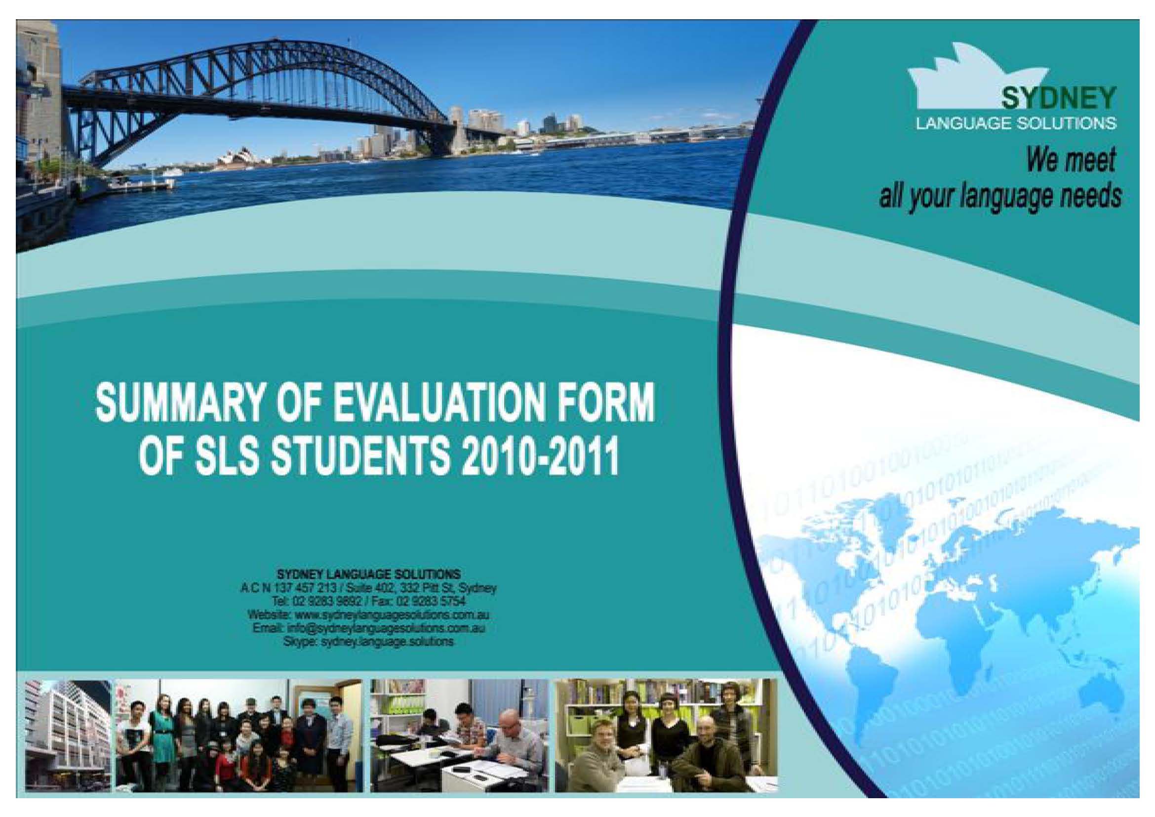 Summary Evaluation Form